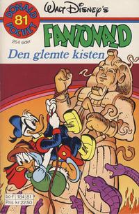 Cover Thumbnail for Donald Pocket (Hjemmet / Egmont, 1968 series) #81 - Fantonald Den glemte kisten [1. opplag]
