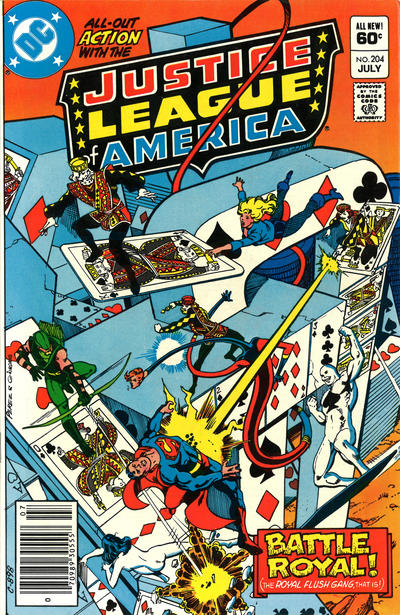 Cover for Justice League of America (DC, 1960 series) #204 [Direct Sales]