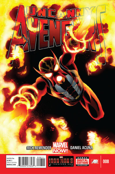 Cover for Uncanny Avengers (Marvel, 2012 series) #8