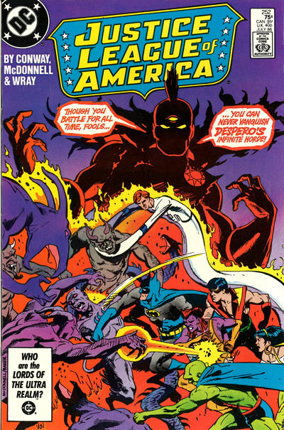 Cover for Justice League of America (DC, 1960 series) #252 [Direct Sales]