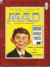 Cover for Mad (Thorpe & Porter, 1959 series) #1