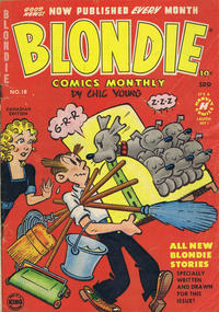 Cover Thumbnail for Blondie Comics Monthly (Super Publishing, 1950 series) #18