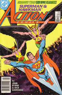 Cover Thumbnail for Action Comics (DC, 1938 series) #588 [Newsstand]