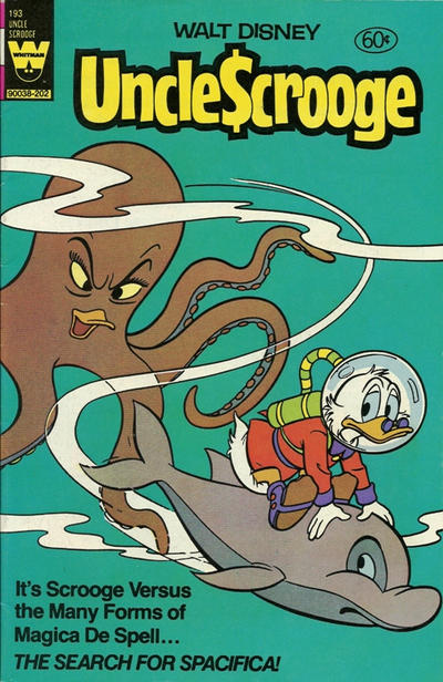 Cover for Uncle Scrooge (Western, 1963 series) #193 [White Whitman Logo]
