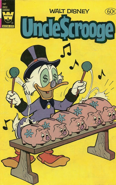 Cover for Uncle Scrooge (Western, 1963 series) #197 [White Whitman Logo]