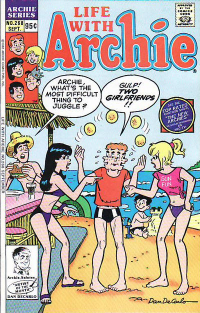 Cover for Life with Archie (Archie, 1958 series) #268 [Newsstand Edition]