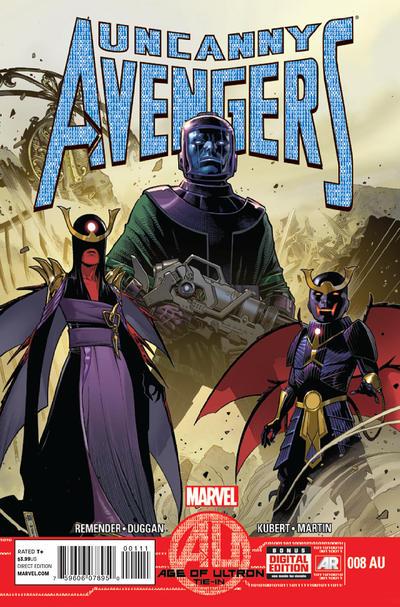 Cover for Uncanny Avengers (Marvel, 2012 series) #8AU
