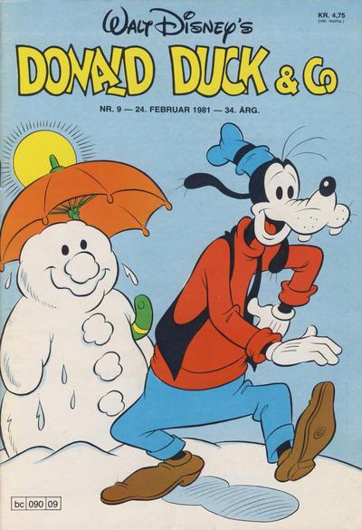 Cover for Donald Duck & Co (Hjemmet / Egmont, 1948 series) #9/1981