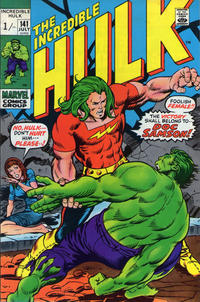Cover for The Incredible Hulk (Marvel, 1968 series) #141 [Regular Edition]