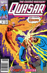 Cover Thumbnail for Quasar (Marvel, 1989 series) #11 [Newsstand]