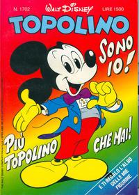Cover Thumbnail for Topolino (The Walt Disney Company Italia, 1988 series) #1702