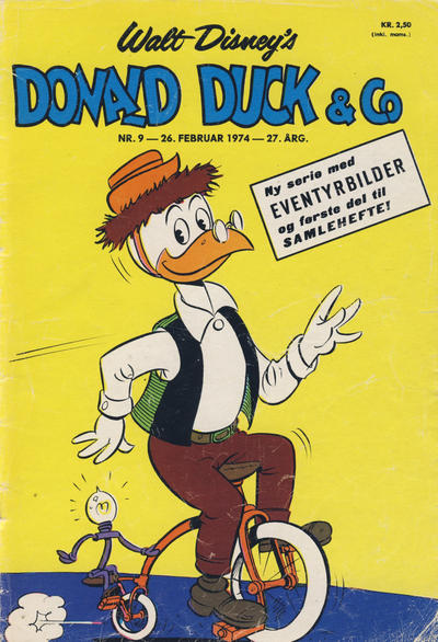 Cover for Donald Duck & Co (Hjemmet / Egmont, 1948 series) #9/1974