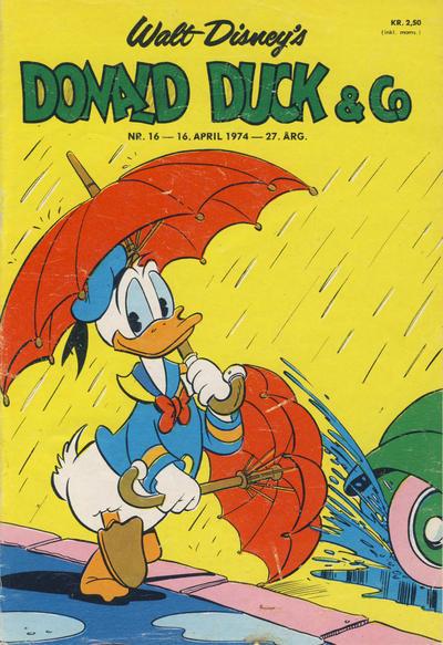 Cover for Donald Duck & Co (Hjemmet / Egmont, 1948 series) #16/1974