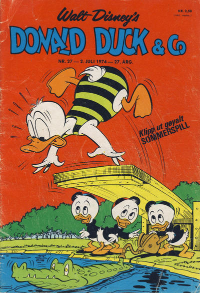 Cover for Donald Duck & Co (Hjemmet / Egmont, 1948 series) #27/1974
