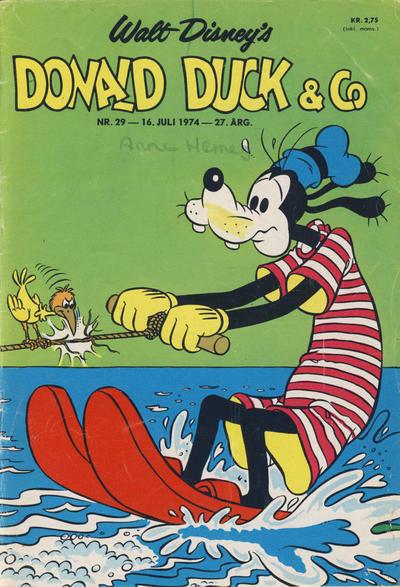 Cover for Donald Duck & Co (Hjemmet / Egmont, 1948 series) #29/1974