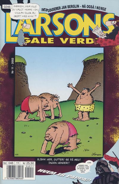 Cover for Larsons gale verden (Bladkompaniet / Schibsted, 1992 series) #11/2002