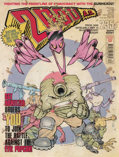 Cover for 2000 AD (Rebellion, 2001 series) #1830