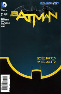 Cover for Batman (DC, 2011 series) #21 [Second Printing]
