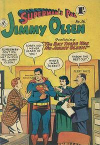 Cover Thumbnail for Superman's Pal, Jimmy Olsen (K. G. Murray, 1955 series) #36
