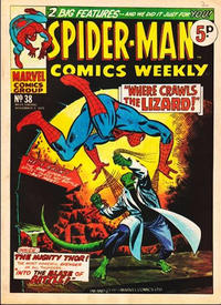 Cover Thumbnail for Spider-Man Comics Weekly (Marvel UK, 1973 series) #38