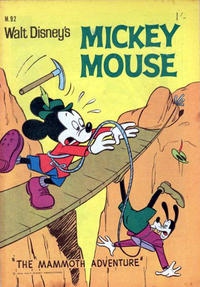 Cover Thumbnail for Walt Disney's Mickey Mouse (W. G. Publications; Wogan Publications, 1956 series) #92