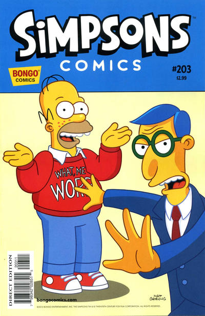Cover for Simpsons Comics (Bongo, 1993 series) #203
