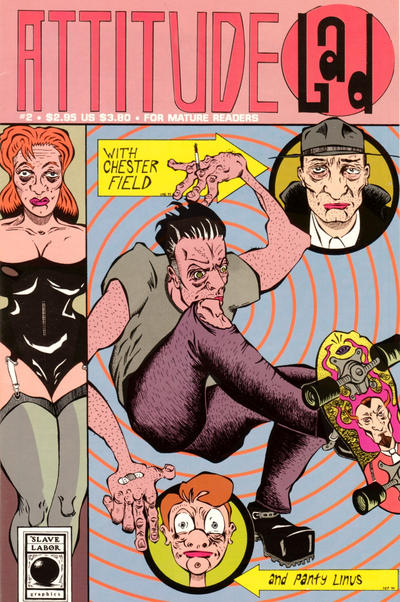 Cover for Attitude Lad (Slave Labor, 1994 series) #2