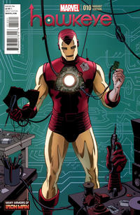 Cover Thumbnail for Hawkeye (Marvel, 2012 series) #10 [Many Armors of Iron Man]