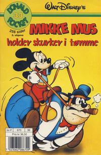 Cover Thumbnail for Donald Pocket (Hjemmet / Egmont, 1968 series) #33 - Mikke Mus holder skurker i tømme [3. opplag]