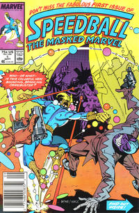Cover Thumbnail for Speedball (Marvel, 1988 series) #1 [Newsstand]