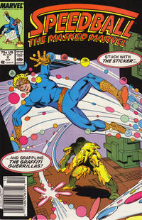Cover Thumbnail for Speedball (Marvel, 1988 series) #2 [Newsstand]