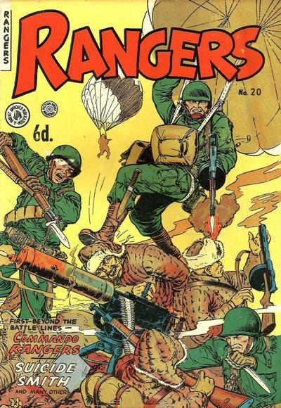 Cover for Rangers Comics (H. John Edwards, 1950 ? series) #20