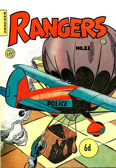 Cover for Rangers Comics (H. John Edwards, 1950 ? series) #22