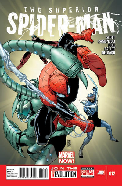 Cover for Superior Spider-Man (Marvel, 2013 series) #12