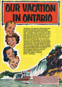 Cover Thumbnail for Our Vacation in Ontario (The Division of Publicity, Department of Travel and Publicity, 1954 ? series) #[nn]