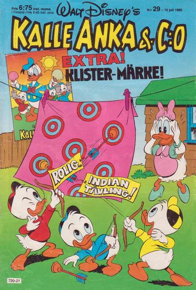 Cover for Kalle Anka & C:o (Hemmets Journal, 1957 series) #29/1985