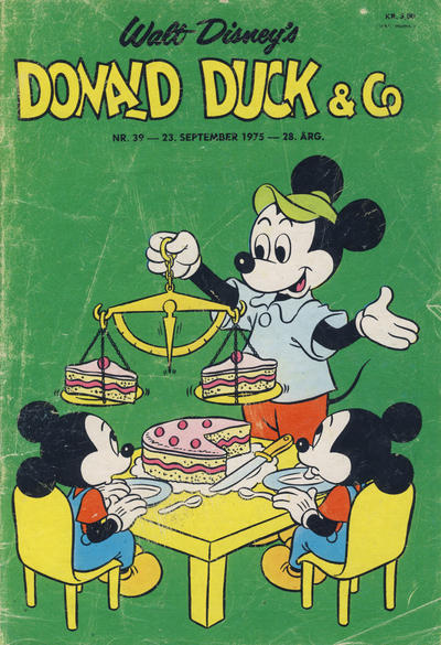 Cover for Donald Duck & Co (Hjemmet / Egmont, 1948 series) #39/1975