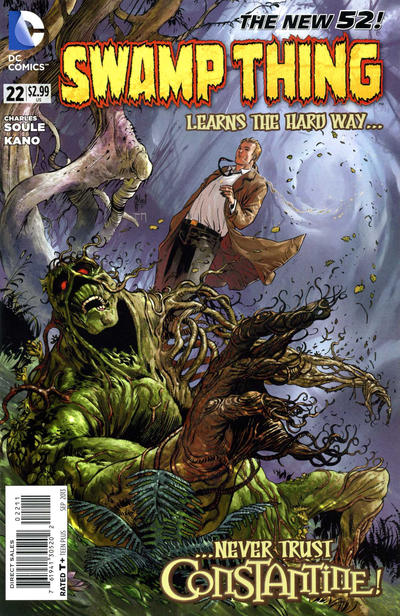 Cover for Swamp Thing (DC, 2011 series) #22