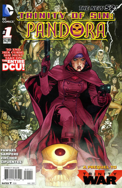Cover for Trinity of Sin: Pandora (DC, 2013 series) #1 [Pasqual Ferry Variant Cover]