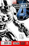 Cover Thumbnail for Secret Avengers (2013 series) #1 [Black & White Variant Cover by Joe Quesada]