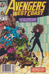 Cover for Avengers West Coast (Marvel, 1989 series) #48 [Newsstand]