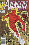 Cover for Avengers West Coast (Marvel, 1989 series) #50 [Newsstand]