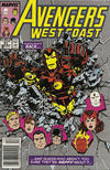 Cover for Avengers West Coast (Marvel, 1989 series) #51 [Newsstand]