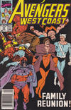 Cover for Avengers West Coast (Marvel, 1989 series) #57 [Newsstand]