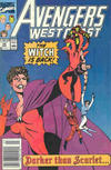 Cover for Avengers West Coast (Marvel, 1989 series) #56 [Newsstand]
