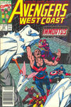Cover for Avengers West Coast (Marvel, 1989 series) #62 [Newsstand]