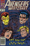 Cover for Avengers West Coast (Marvel, 1989 series) #58 [Newsstand]