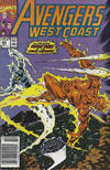 Cover for Avengers West Coast (Marvel, 1989 series) #63 [Newsstand]