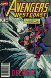 Cover for Avengers West Coast (Marvel, 1989 series) #59 [Newsstand]