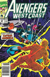 Cover for Avengers West Coast (Marvel, 1989 series) #64 [Newsstand]